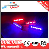 luzes da grade do carro de polícia do diodo emissor de luz do vermelho 4X6 azul