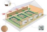 Casa de suínos almofada de resfriamento de equipamentos da linha de produção