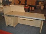 Büro-Schreibtisch-Empfang-Tisch mit verschließbaren Fach-Schränken