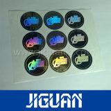 Hologramm-Aufkleber des kleine runde silberne Farben-preiswerter Zoll-3D