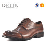 Nice Cap la convergencia de piel genuina marrón Zapatos Zapatos de encaje hasta