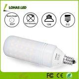 Ampoule blanche de vente chaude du jour équivalent 5000K DEL T10 de l'ampoule 100W d'éclairage LED de 12W E12 pour la maison