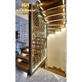 Крытая декоративная перегородка рассекателя комнаты нержавеющей стали металла