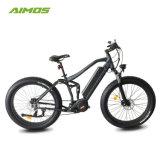 bici elettriche del METÀ DI azionamento dell'azionamento di 36V 250W Bafang METÀ DI con la montagna piena della bici della sospensione E dell'aria della lega