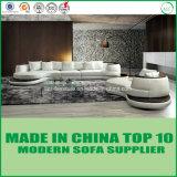 Sofa en bois de meubles de cuir neuf moderne de modèle