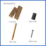 Plancher composé en plastique en bois de Decking/de Chaud-Vente creuse Anti-UV extérieure avec différentes graines en bois