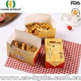 Rectángulo de papel frito plegable del alimento del pollo/de bocado de la viruta