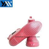 Розовый водонепроницаемый телевизор с плоским характера резиновые сад женщин дождя ботинки с эластичной