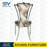 Silla de cuero de la silla del acero inoxidable de los muebles de la boda que cena la silla