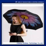 Prmotional ha invertito l'ombrello d'inversione inverso Handsfree antivento di doppio strato della maniglia dell'ombrello C