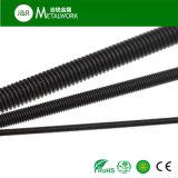 M10炭素鋼の黒の酸化物の完全な糸のスタッドのボルト(DIN976)