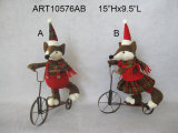 Мальчик украшения рождества & велосипед металла Riding Fox девушки