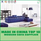 L meubles sectionnels réglés de salle de séjour de sofa de cuir de forme
