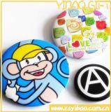 Ronda personalizada impresso o botão Pin Emblemas de presente de promoção (YB-BT-01)
