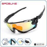 Windproof ultraligero flexible Tr90 Biker de gafas de ciclismo de carretera