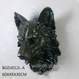 ホーム棒壁の芸術の装飾的なオオカミの動物のヘッド彫像