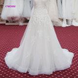 Краткость конструкции изготовления Sleeves платье шнурка Bridal линия мантия венчания