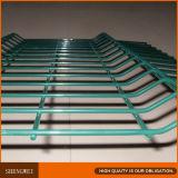 Luz revestida plástica - cerco verde do engranzamento de fio