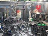 L'eau minérale automatique mettant le petit remplissage de bouteilles et recouvrant en bouteille la machine