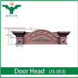 Porte de modèle d'entrée de luxe de villa/en-tête de porte en bois