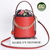 Bolsa Emg5180 de Crossbody da bolsa do ombro do couro genuíno do saco da cubeta da forma das mulheres Chain as mais atrasadas do projeto