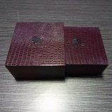 Flannelette 종이를 가진 주문 최신 각인된 로고 보석 선물 상자