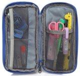 Trousse d'écolier d'élève de poche de support de crayon lecteur de grande capacité avec deux compartiments multi de tirettes