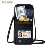 Нескольких функций движении скрытые деньги чехол горловины Wallet RFID паспорта владельца карты