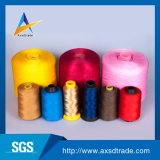 中国の製造者は100%高い粘着性によって回されるポリエステル縫う糸の価格を卸し売りする