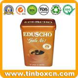 سدود معدن قهوة قصدير صندوق مع ملعقة لأنّ طعام يعبّئ