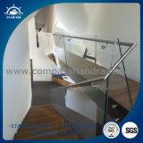 Balcón de la escalera de cristal templado / pasamanos de escalera de acero inoxidable barandilla de vidrio