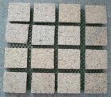 Lajes sem emenda douradas das telhas do granito G682 do por do sol amarelo oxidado do granito