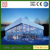 ガラス壁が付いているアルミニウムフレーム2の床の二重層のテント