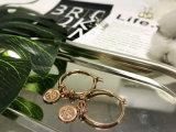 Серьга круга реальной формы печенья серьги плакировкой золота Rose круглой привесная