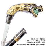Bastone da passeggio 91cm HK8498 del metallo della spada della canna della testa del drago del metallo