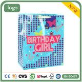 Azul de aniversário do vestuário Calçados Brinquedos Artesanato Loja Dom sacos de papel