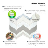 海洋の台所のためのガラスタイルのモザイクBacksplashの基本的な白い混合された水晶