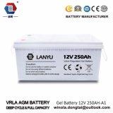 Ah bateria do AGM da bateria acidificada ao chumbo da bateria do gel 12V 250