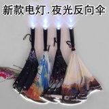 Spitzenverkaufenkundenspezifischer hochwertiger heller Regenschirm des Griff-LED