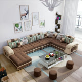 Sofá moderno de la tela de Medio Oriente del estilo de la dimensión de una variable grande de U (S889)