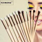 12 pcs ensemble de la brosse de Maquillage professionnel Fondation Kabuki mélange synthétique Blush Concealer Crème Visage de l'oeil Liquide Poudre cosmétiques PINCEAU À LÈVRES