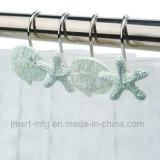Les crochets Polyresin rideau de douche avec Marine décoratives