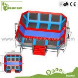 Trampolín de interior para los adultos, parque de interior rectangular del salto del trampolín