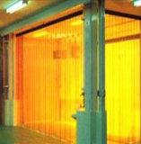Cortina transparente do PVC