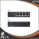 1X 100Base-FX para 4X 10/100Base 1550nm 100km para o conversor de mídia de fibra