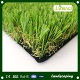 PE+PP respaldo paisaje verde de césped artificial de la fábrica de Jiangsu