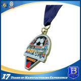 Искусство и ремесла Custom металла и футбол спортивные медали с голубой лентой