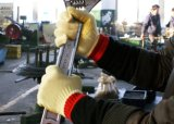 최고 커트 저항하는 반대로 미끄러짐 PVC에 의하여 점을 찍는 안전 일 장갑