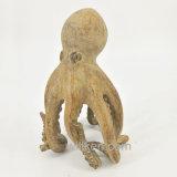 Decoración tamaño pequeño artificial de la escultura de la artesanía de la resina del pulpo