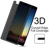 Samsungギャラクシーノート8スクリーンの保護装置のSamsungギャラクシーノート8のための3Dによって曲げられる反スパイの緩和された例の友好的なガラススクリーン・フィルム